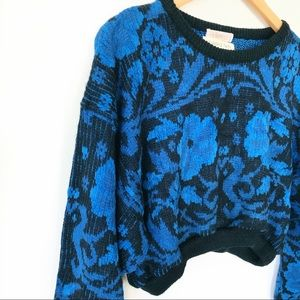 Reworked Vintage Cropped Knit Sweater
